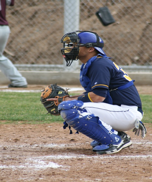 Jeremy behind the plate