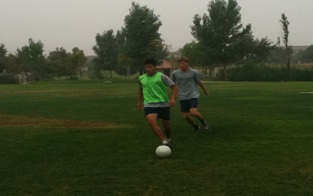Practice Begins for Men's Soccer